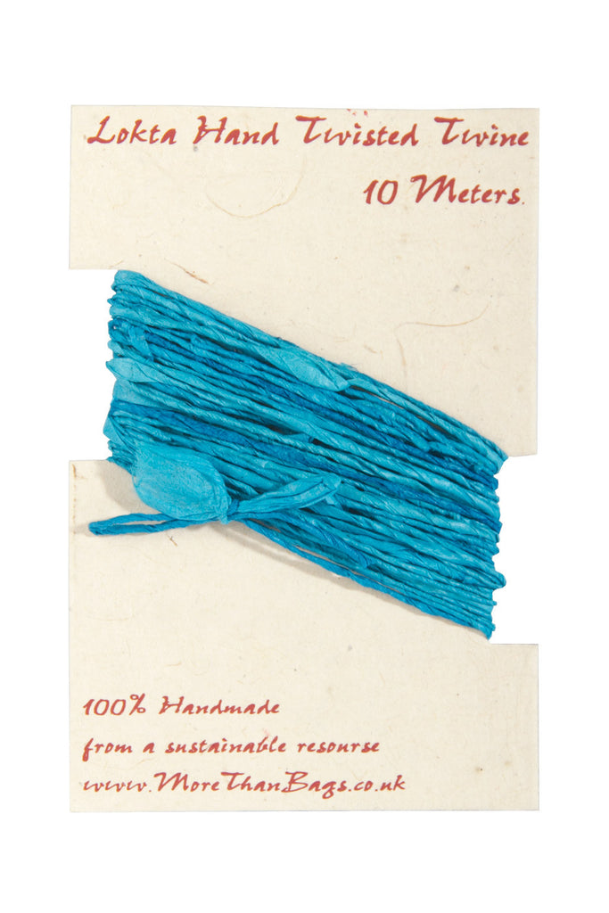 Lokta Twine - 10 meter - Teal - Gift Wrap - Anglesey Paper Company