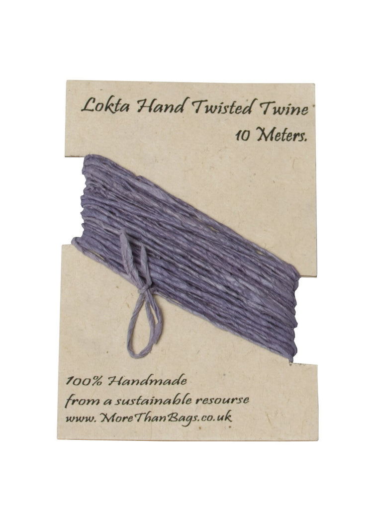 Lokta Twine - 10 meter - Lavender - Gift Wrap - Anglesey Paper Company
