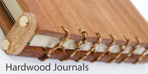 handmade hard wood journals made using oak or sepele