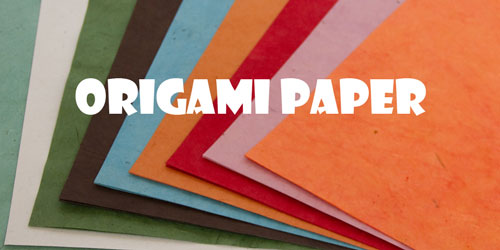 Naturally Dyed Handmade Lokta Origami Paper