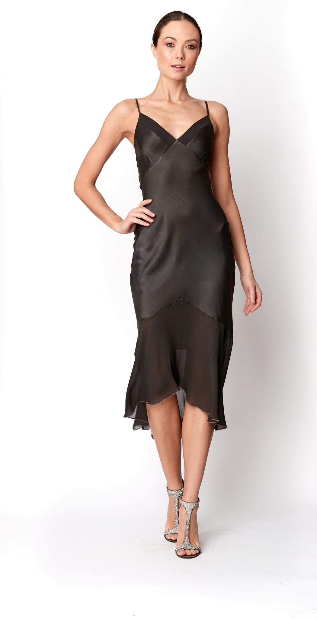 Paneled Slip Dress
