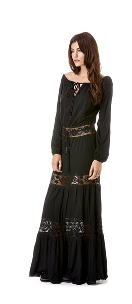 Long Sleeve Jersey Hippie Dress