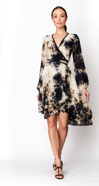 Jennifer Wrap Dress in Silk chiffon
