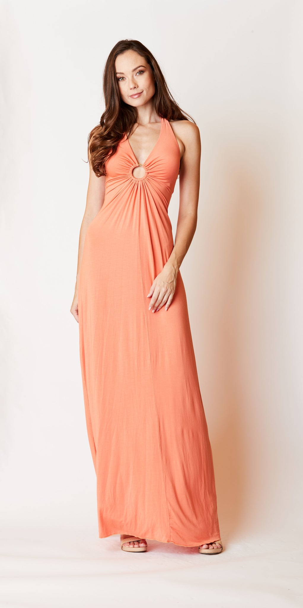 Halter Keyhole Dress