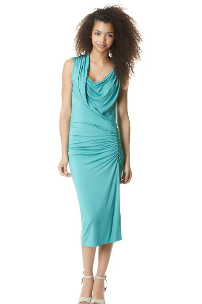 Grecian Twist Dress with Ring