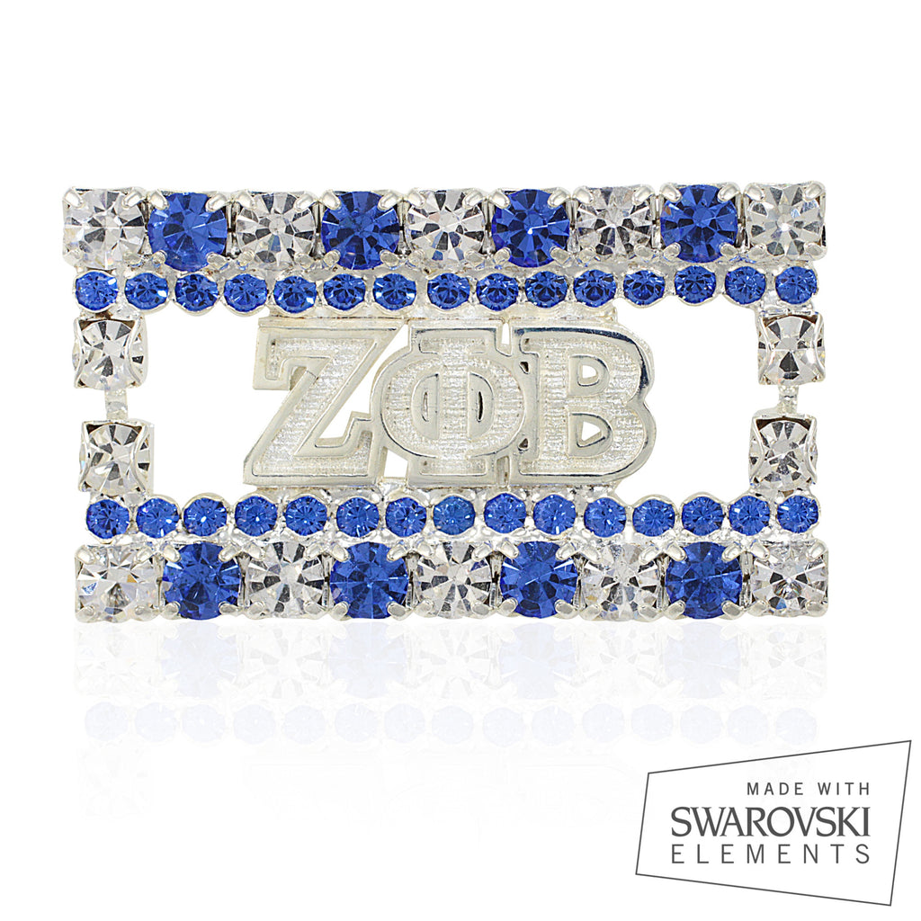 "Zeta Crystal ""Studded"" Pin"