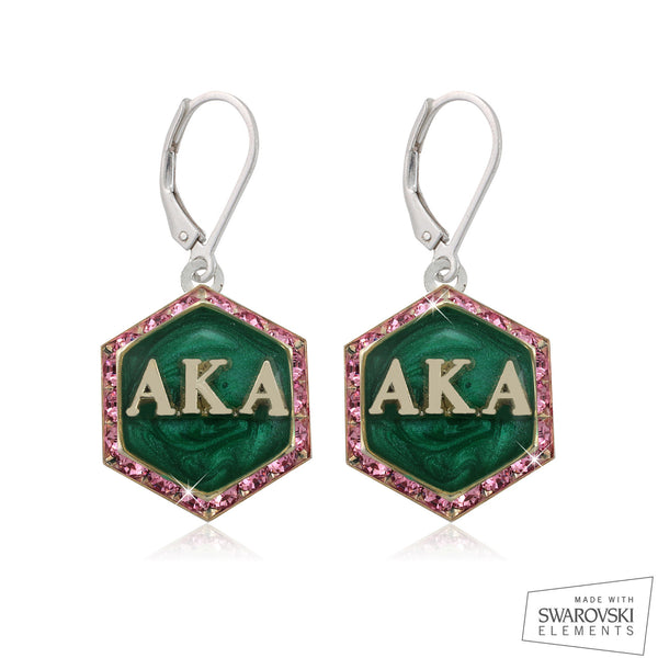 "AKA Swarovski® ""Emerald Swirls"" Starbella Earrings"