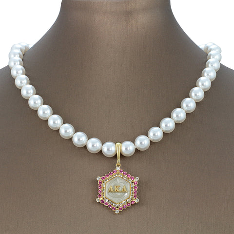 AKA Swarovski® Marbella Pristine Edition Necklace with Pearls