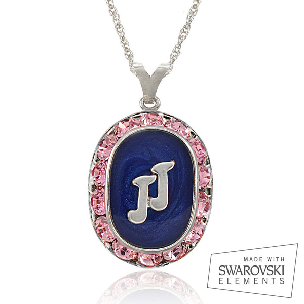 "Jack and Jill Swarovski® ""Perfection"" Silver Crystal Necklace"