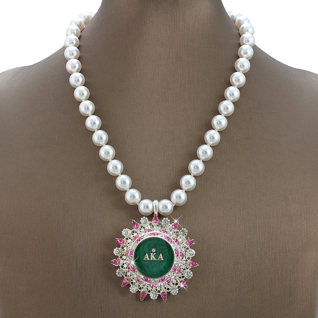 "AKA Swarovski® ""Lattice"" Exquisite Necklace with Pearls"