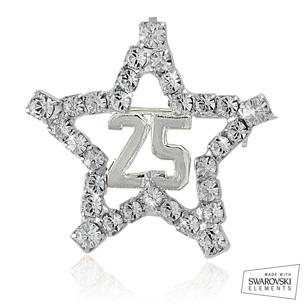 "AKA Swarovski® ""25"" ""The Star"" Pin"