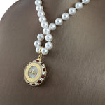 "DST Swarovski® ""Brilliance"" Grande Necklace with Pearls"