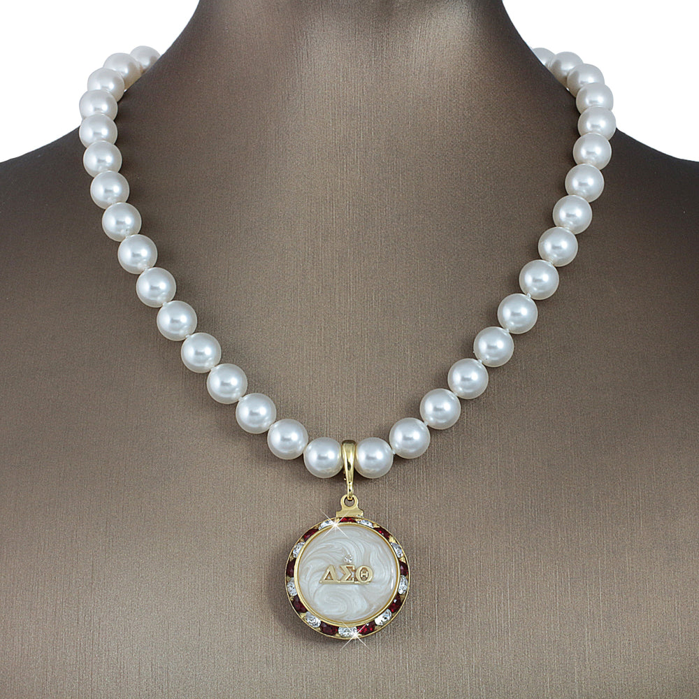 "DST Swarovski® ""Elegance"" Grande Necklace with Pearls"
