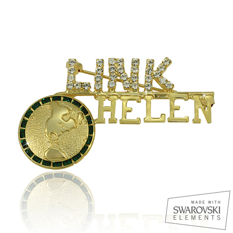 "Links Swarovski® Custom Name ""Serenity"" Pin"