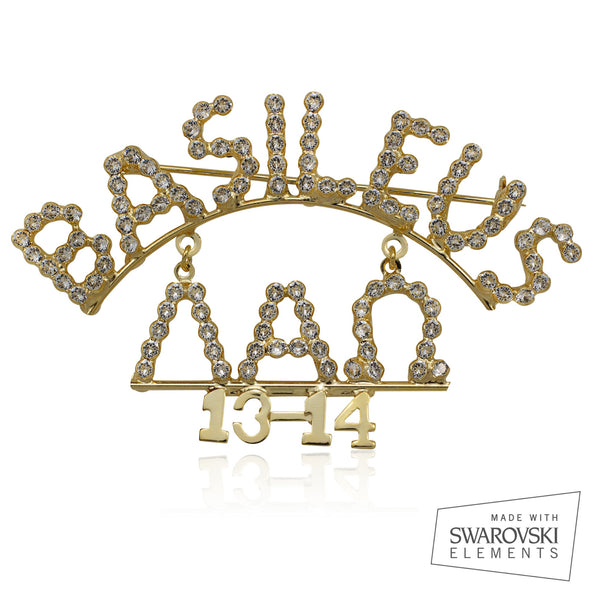 "AKA Swarovski® Custom Basileus ""Exquisite"" Pin"