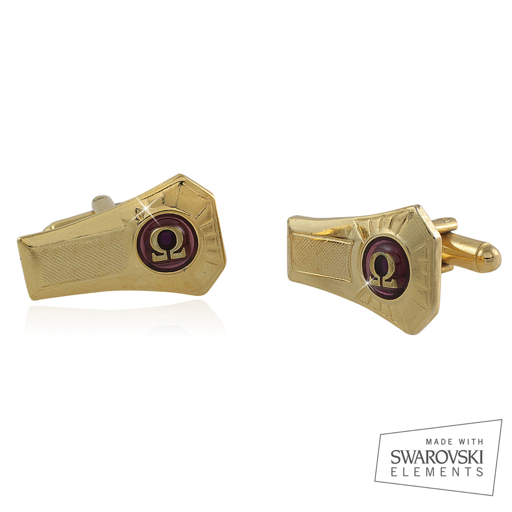 "Omega Psi Phi Swarovski® ""Venerated"" Cufflinks"