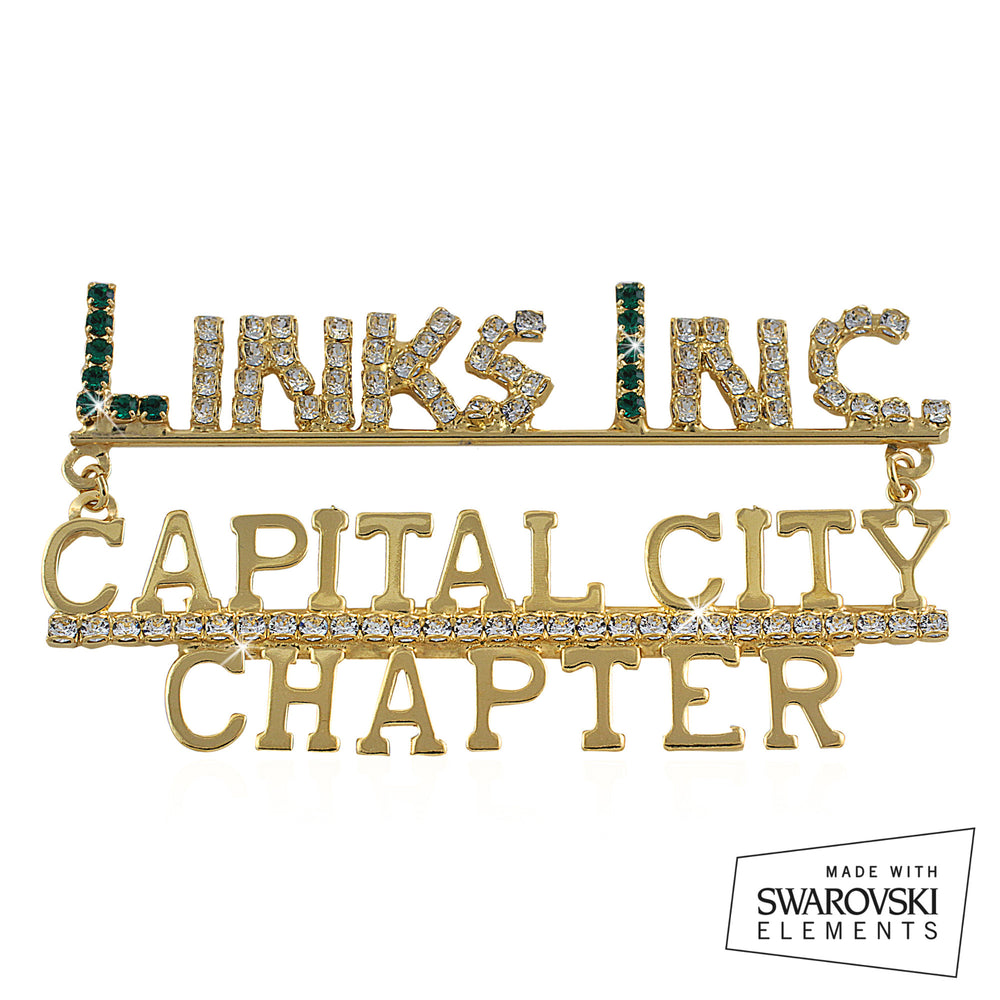 "Links, Inc. Swarovski® Custom Chapter ""Rarefied""  Pin"