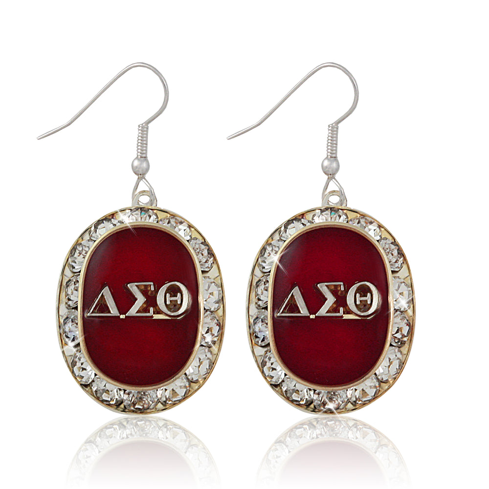 "DST Swarovski® ""Opulent"" Red and Silver Earrings"