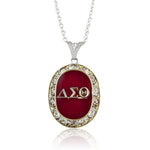 "DST Swarovski® ""Opulent"" Ruby Silver Necklace"