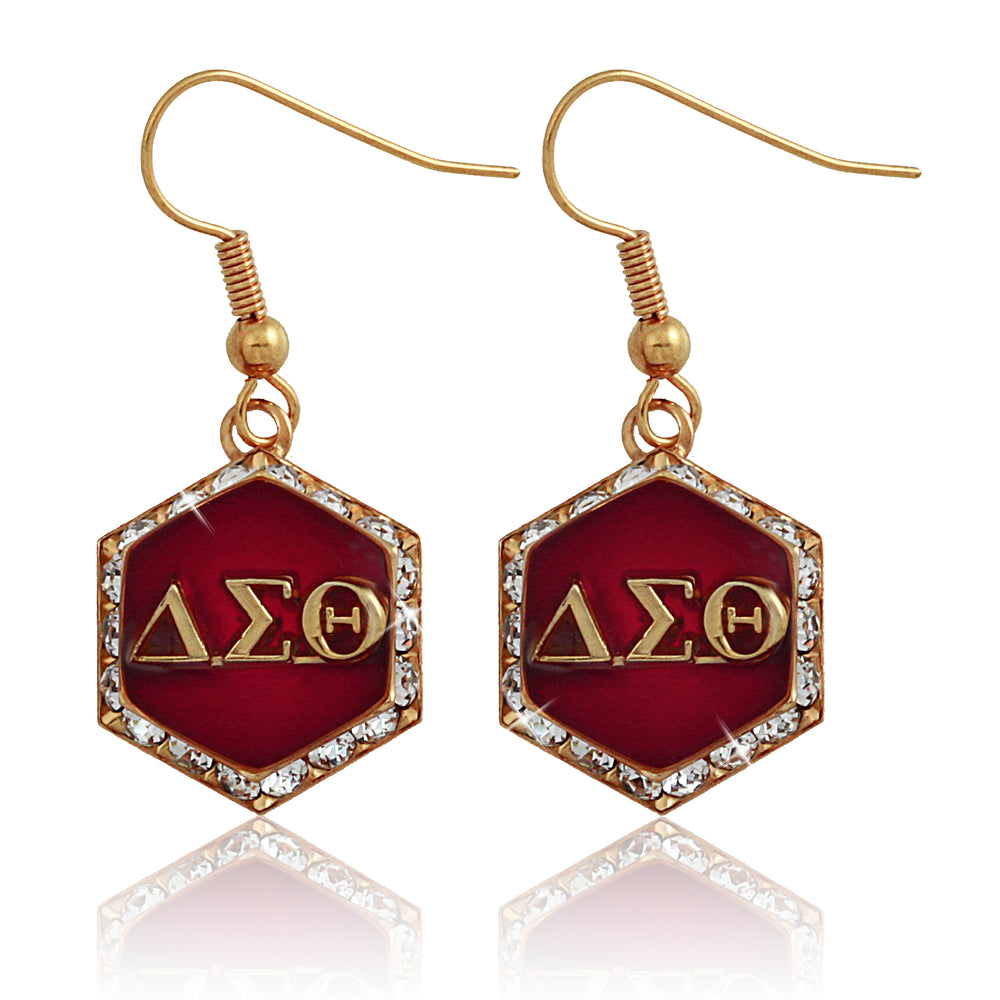 "DST Swarovski® ""Starbella"" Red and Gold Earrings"