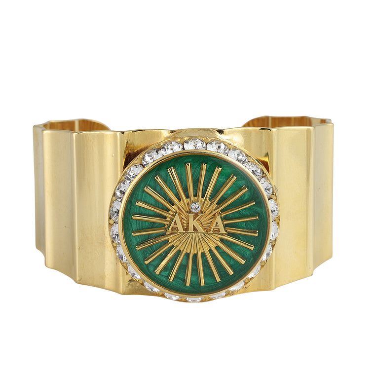 AKA Swarovski® Limited Edition Emerald Bangle Cuff Bracelet