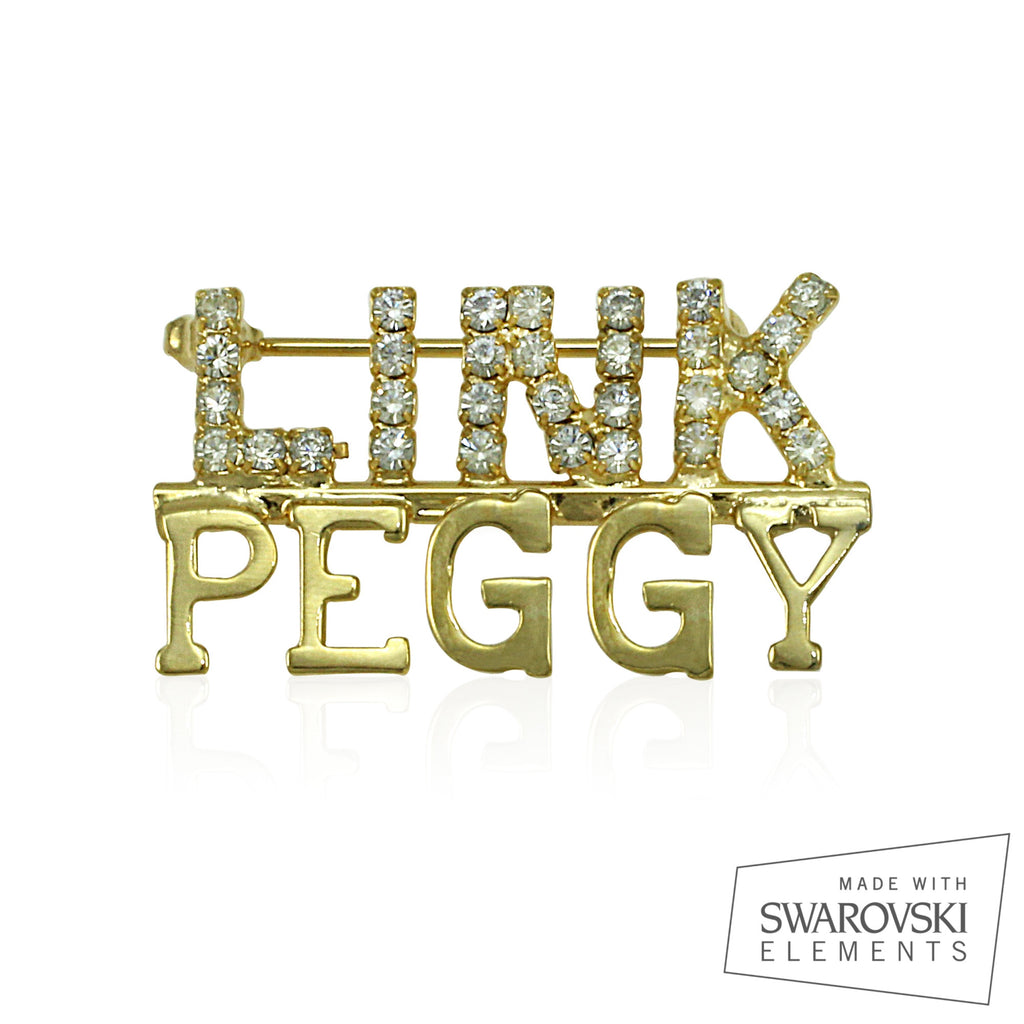 "Links Swarovski® Custom Name ""Simplicity"" Pin"