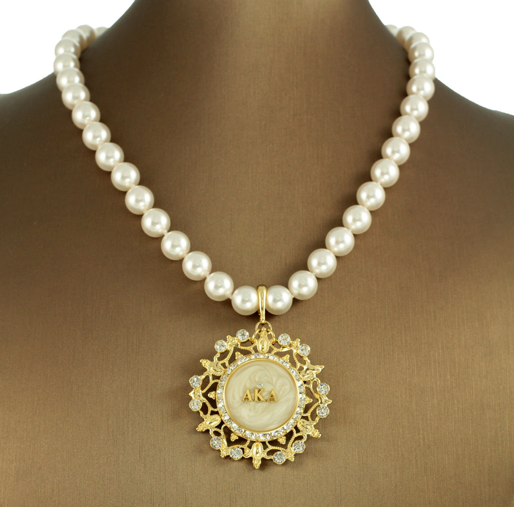 "AKA Swarovski® Custom White ""Sophisticate"" Necklace"
