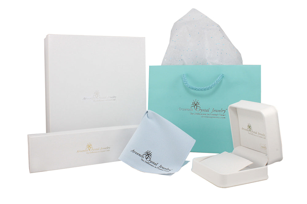 "AKA Swarovski® ""Glittering in White"" Gift Set in Silver"
