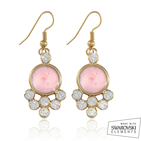 "AKA Swarovski® ""Encrusted"" Gold Earrings"