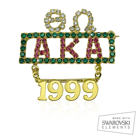 AKA Swarovski® Crystallized Majestic Chapter Pin