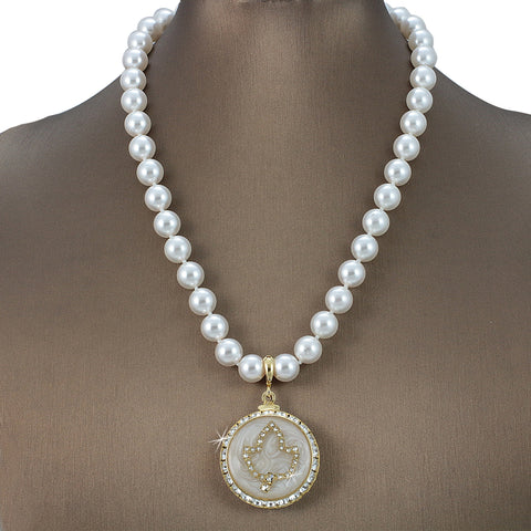"EXCLUSIVE! Alpha Kappa Alpha Swarovski® Grande ""Lavish"" Necklace with Pearls"