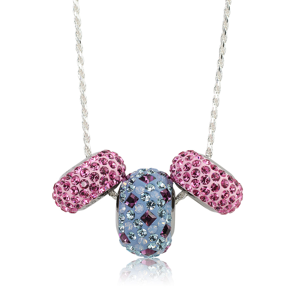 "Swarovski®  Fantasy Beads Necklace w/ 18""Sterling Silver Chain *Limited Edition*"