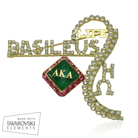 "AKA Swarovski® Custom Basileus ""Grand"" Pin"