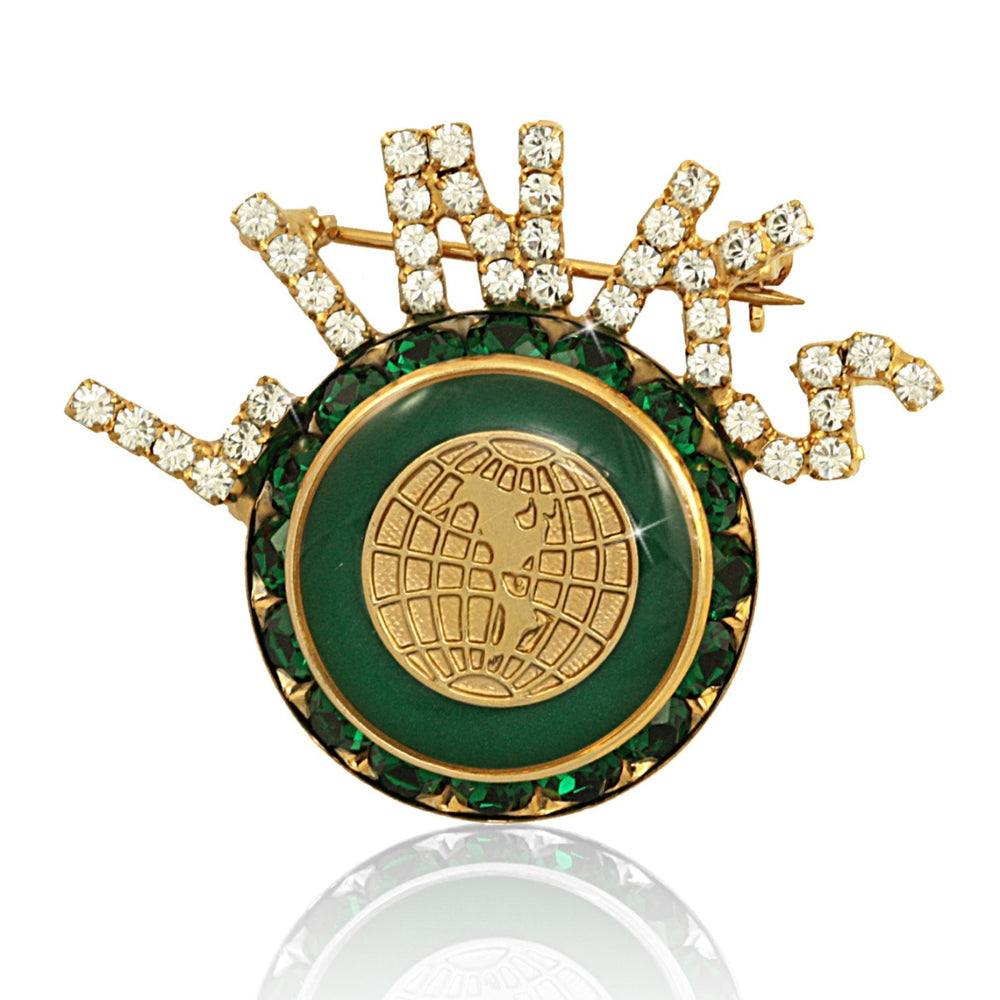 "Links, Inc. Swarovski® ""Exquisite"" Emerald and Gold Pin"