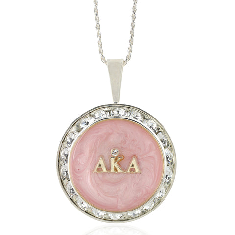 "AKA Swarovski® Ivy Elegance ""Forever"" Necklace with Pink Swirls w/18"" Chain"