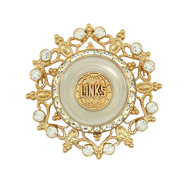 "LINKS Swarovski® ""Starlight"" White Pin"