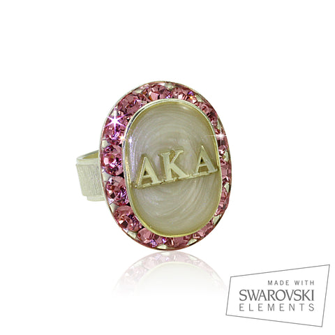 "AKA Swarovski® ""Pearls in Pink"" Ring"