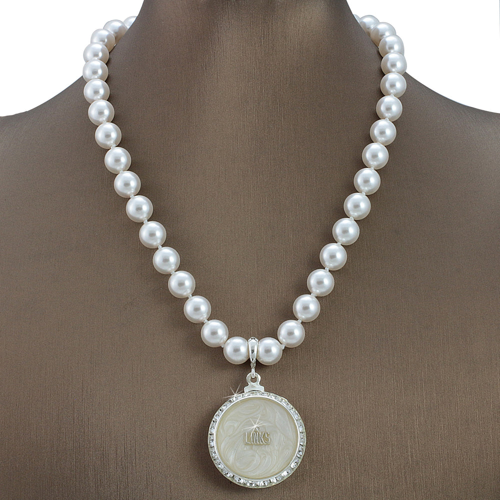 "Links Swarovski® Grande ""Luxuriant"" Necklace with Pearls"
