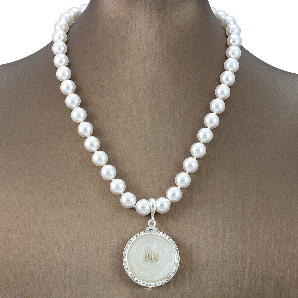"Links Swarovski® Grande ""Exuberant"" Necklace with Pearls"