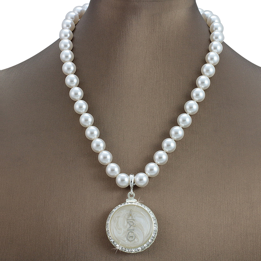 "DST Swarovski® ""Glowing"" Grande Necklace with Pearls"