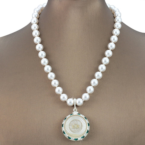 "Links Swarovski® Grande White Ice ""Exuberant"" Necklace with Pearls"
