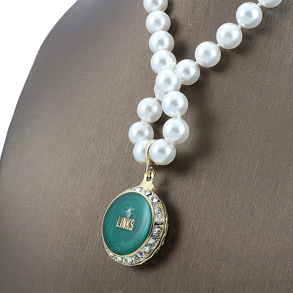 "Links Swarovski® Infinity ""Solstice"" Necklace with Pearls"