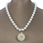 "DST Swarovski® ""Resplendent"" Infinity Necklace with Pearls"