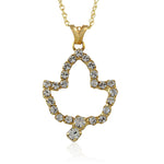 AKA Swarovski® Ivy Leaf Gold Necklace