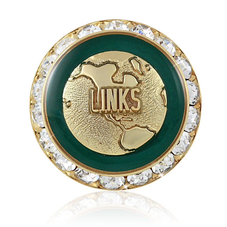 LINKS Heritage Gold Swarovski® Pin