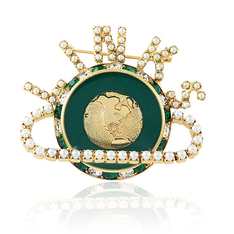 LINKS Prestige Emerald Pearl Pin