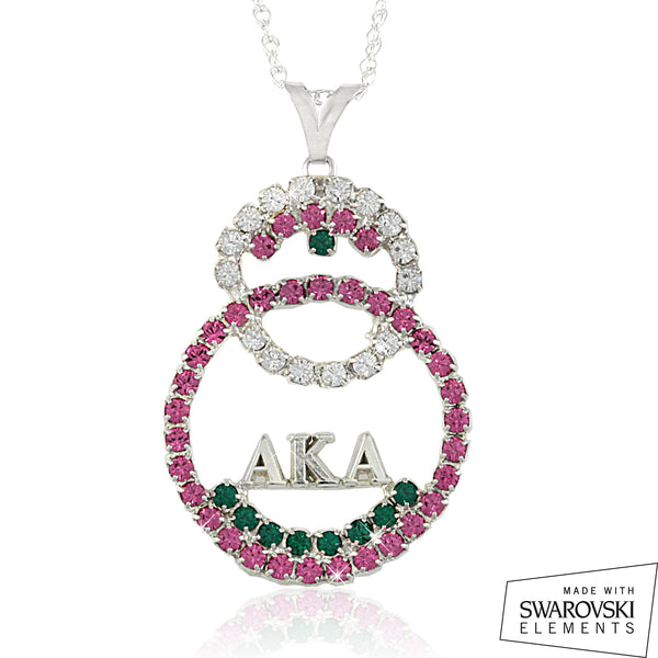 "AKA Swarovski® ""Unity"" Crystal Pink and Emerald Necklace"