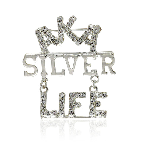 Silver Star Life Crystallized Pin