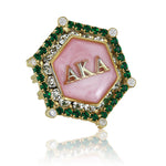 "AKA Swarovski® ""Emerald Essence"" Marbella Gold Ring"
