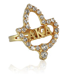 "AKA Swarovski® Magnificent Ivy ""Lettered"" Ring"